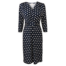 Buy East Spot Jersey Dress, Navy Online at johnlewis.com