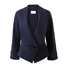 Buy East Boiled Wool Collar Jacket, Navy Online at johnlewis.com