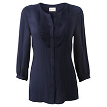 Buy East Viscose Jacquard Shirt, Navy Online at johnlewis.com