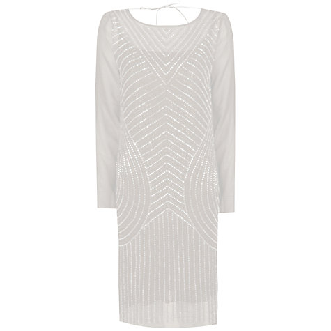 Buy True Decadence Asymmetrical Sparkly Dress, Nude Online at johnlewis.com
