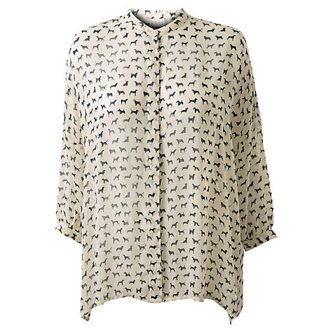 Buy East Archie Oversized Blouse, Ivory Online at johnlewis.com