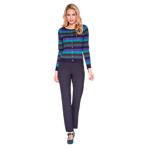 Buy East Ponte Roma Trousers, Navy Online at johnlewis.com