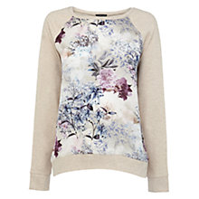 Buy Warehouse Jacquard Front Jumper, Beige Online at johnlewis.com