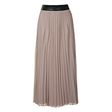 Buy True Decadence Pleated Maxi Skirt, Nude Online at johnlewis.com