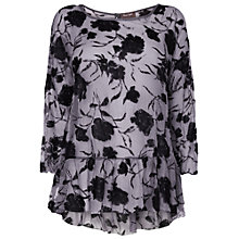 Buy Phase Eight Moira Floral Silk Blouse, Mole Online at johnlewis.com