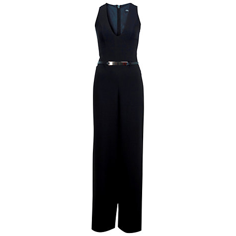 Buy Miss Selfridge Wide Leg Playsuit, Black Online at johnlewis.com