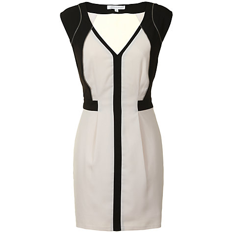 Buy True Decadence Zip Bodycon Dress, Black/White Online at johnlewis.com