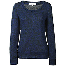 Buy True Decadence Heritage Patch Jumper, Blue/Black Online at johnlewis.com