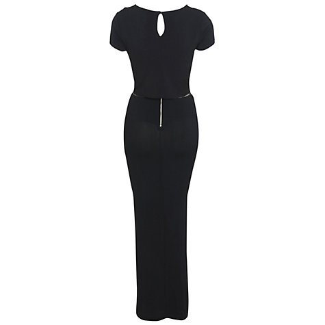 Buy Miss Selfridge Lace Insert Maxi Dess, Black Online at johnlewis.com