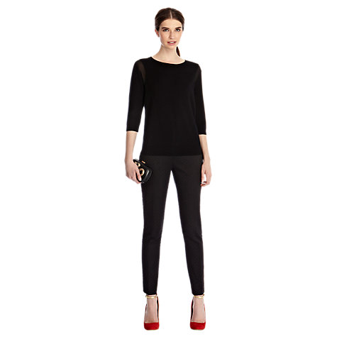 Buy Coast Meribel Knitted Top, Black Online at johnlewis.com