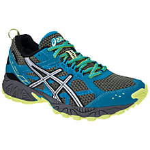 Buy Asics Women's GEL-Trail Lahar 5 GTX Trail Running Shoes, Blue/Silver Online at johnlewis.com