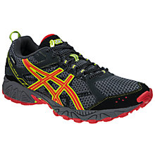 Buy Asics Women's GEL-Trail Lahar 5 GTX Trail Running Shoes, Grey/Red Online at johnlewis.com