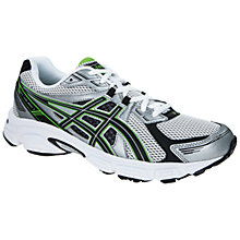 Buy Asics Men's GEL-Galaxy 7 Running Shoes, Silver/Black/Green Online at johnlewis.com