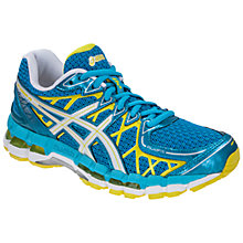 Buy Asics GEL-Kayano 20 Women's Running Shoes, Blue/White/Green Online at johnlewis.com