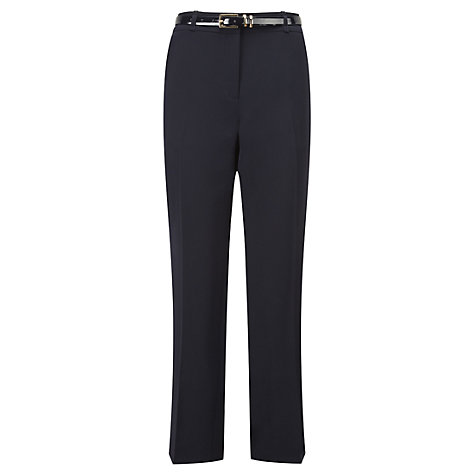 Buy Viyella Petite Belted Trousers, Navy Online at johnlewis.com