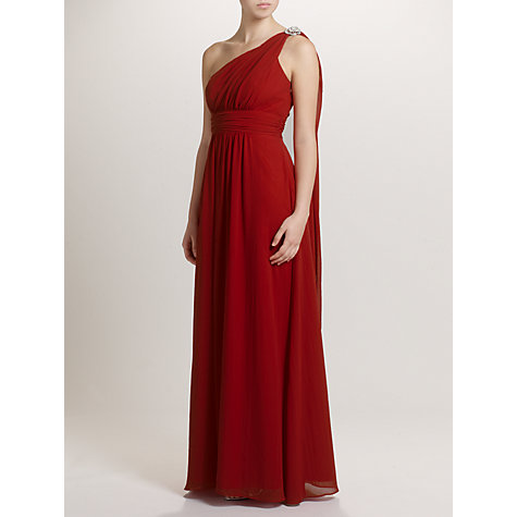 Buy Ariella Celia Chiffon Long Dress, Red Online at johnlewis.com