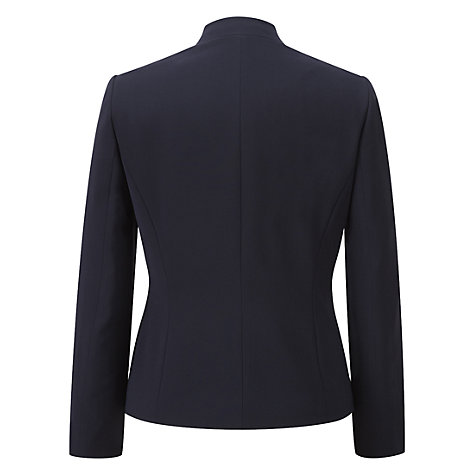 Buy Viyella Petite Collarless Jacket, Navy Online at johnlewis.com
