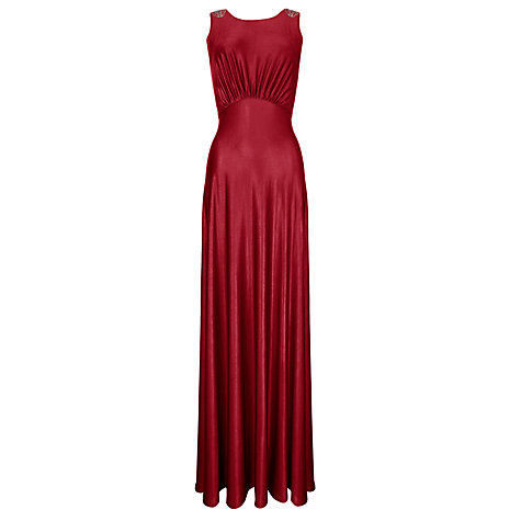 Buy Ariella Harper Jersey Long Dress, Red Online at johnlewis.com