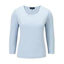 Buy Viyella Top Bobble Textured Top, Light Blue Online at johnlewis.com