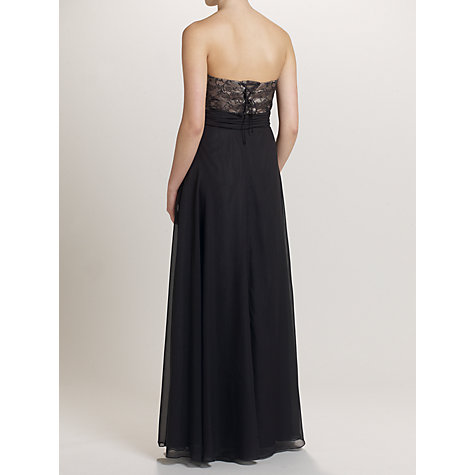 Buy Ariella Daisy Chiffon Dress, Black Online at johnlewis.com