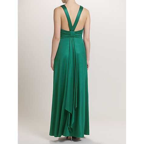 Buy Ariella Willow Jersey Long Dress, Emerald Online at johnlewis.com