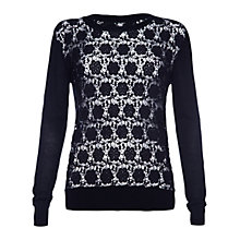 Buy Damsel in a dress Baros Lace Jumper, Black Online at johnlewis.com