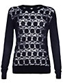 Damsel in a dress Baros Lace Jumper, Black