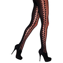 Buy Jonathan Aston Konta Zig Zag Print Tights, Black Online at johnlewis.com