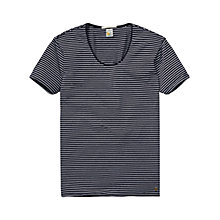 Buy Scotch & Soda Stripe T-Shirt, Navy/White Online at johnlewis.com