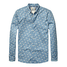 Buy Scotch & Soda Pique Mini Print Shirt, Blue Chambray Online at johnlewis.com