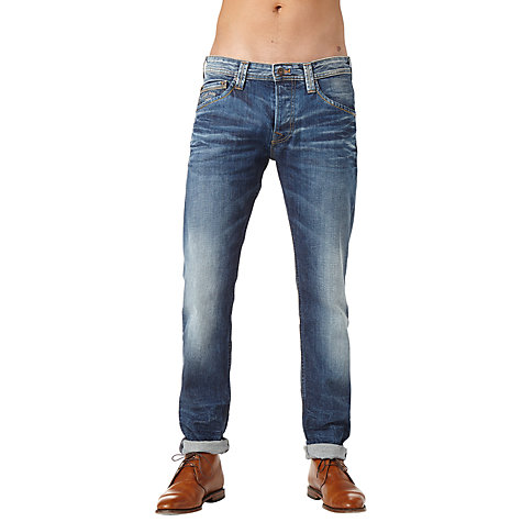 Buy Pepe Jeans Colville Left-Hand Twill Jeans, Denim Blue Online at johnlewis.com