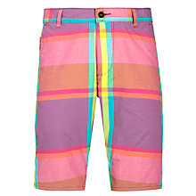 Buy Dockers Alpha Yarn Dyed Check Shorts, Amaryllis/Fuchsia Online at johnlewis.com