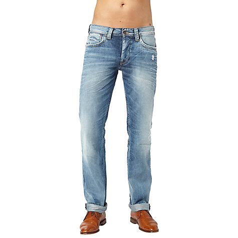 Buy Pepe Jeans Cash Left-Hand Twill Jeans, Denim Blue Online at johnlewis.com