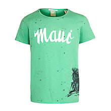 Buy Scotch & Soda Maui Print T-Shirt, Green Online at johnlewis.com