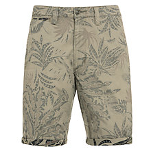 Buy Dockers Roll Up Foliage Print Shorts, True Olive Online at johnlewis.com