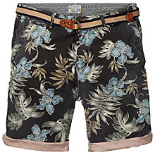 Buy Scotch & Soda Belted Floral Chino Shorts, Black/Green Online at johnlewis.com