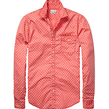 Buy Scotch & Soda Batik Snow Print Long Sleeve Shirt, Red Pattern Online at johnlewis.com