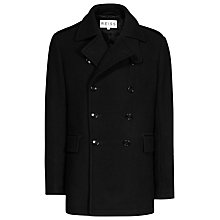Buy Reiss Elverston Wool Double Breasted Coat, Black Online at johnlewis.com