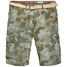 Buy Scotch & Soda Belted Cargo Camo Shorts, Green Camo Online at johnlewis.com