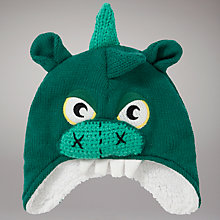 Buy John Lewis Dinosaur Trapper Hat, Green Online at johnlewis.com