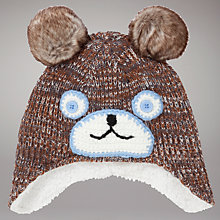 Buy John Lewis Bear Trapper Hat, Brown Online at johnlewis.com