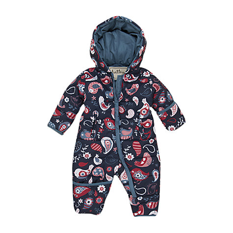 Buy Hatley Paisley Birds Snowsuit, Blue/Multi Online at johnlewis.com