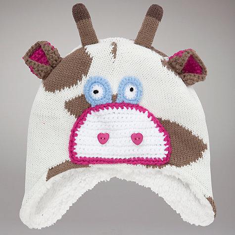 Buy John Lewis Giraffe Trapper Hat, Brown/White Online at johnlewis.com