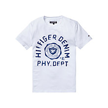 Buy Tommy Hilfiger Boys' Short Sleeve Phy. Dept T-Shirt, White Online at johnlewis.com