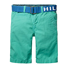 Buy Tommy Hilfiger Boys' Preppy Chino Shorts, Turquoise Online at johnlewis.com