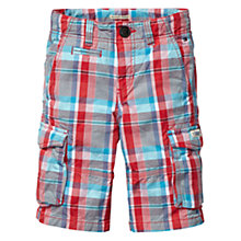 Buy Tommy Hilfiger Boys' Gonzales Checked Shorts, Red/Blue Online at johnlewis.com