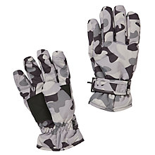 Buy John Lewis Boy Camouflage Ski Gloves, Cargo Online at johnlewis.com