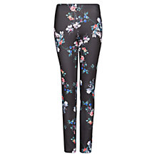 Buy Mango Neoprene Floral Trousers, Black Online at johnlewis.com