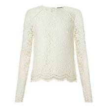 Buy Whistles Ivory Leith Lace Top, Ivory Online at johnlewis.com