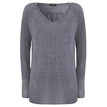Buy Mint Velvet Drape Knitted Tunic, Blue Online at johnlewis.com